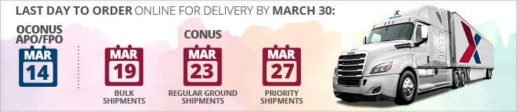 Last Day To Order Online For Delivery By March 30: