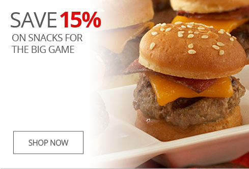 SAVE 15% On Snacks For The Big Game