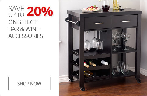 Up to 20% off select bar & wine accessories