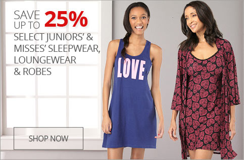 Up to 25% off loungewear