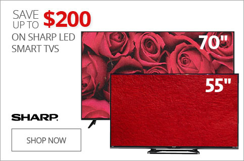 Up to $200 off Sharp LED Smart TVs