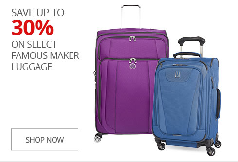 SAVE UP TO 30% on Select Famous Maker Luggage