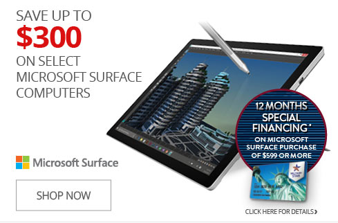 SAVE UP TO $300 on Select Microsoft Surface Computers