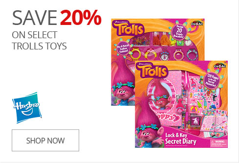 SAVE 20% on Select Trolls Toys