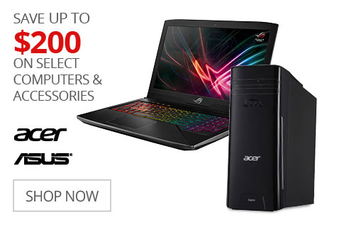 SAVE UP TO $200 On Select Computers & Accessories