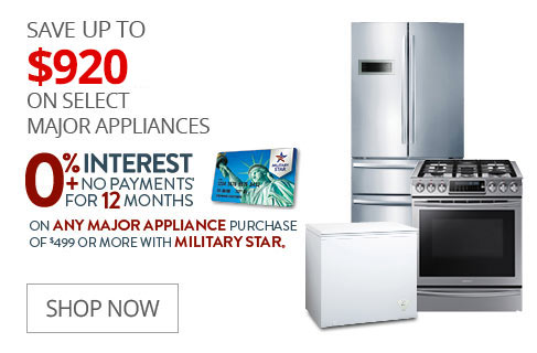 SAVE UP TO $1050 On Select Major Appliances