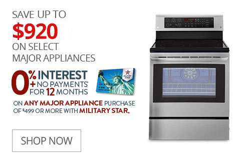 SAVE UP TO $920 On Select Major Appliances