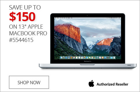 "SAVE UP TO $150 on 13"" MacBook Pro #5544615"