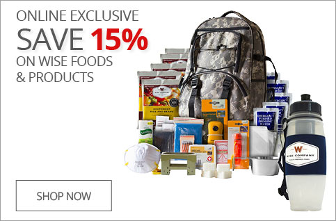ONLINE EXCLUSIVE SAVE 15% on Wise Foods & Products