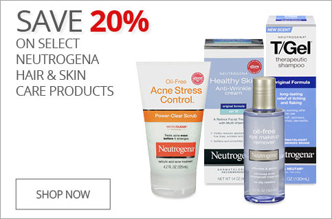 SAVE 20% on Select Neutrogena Hair & Skin Care Products
