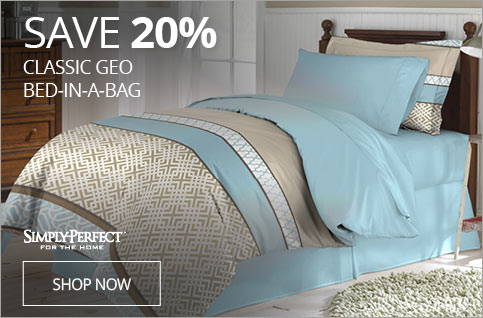 SAVE 20% Classic GEO Bed-In-A-Bag