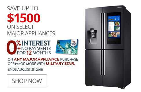 SAVE UP TO $1500 On Select Major Appliances