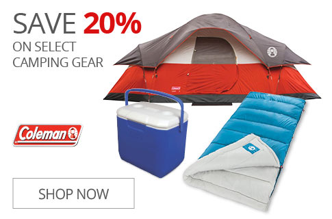SAVE 20% On Select Camping Gear
