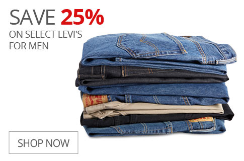 SAVE 25% On Select Levi's For Men