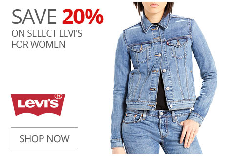 SAVE 20% On Select Levi's For Women