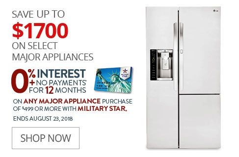 SAVE UP TO $1700 On Select Major Appliances