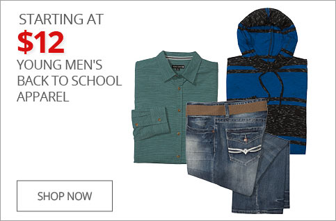 Starting At $12 Young Men's Back To School Apparel