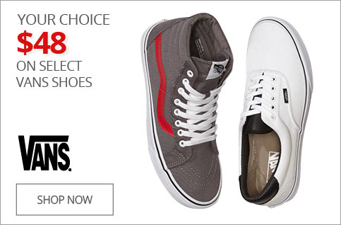Your Choice $48 on Select Vans Shoes
