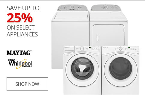 SAVE UP TO 25% on Select Appliances
