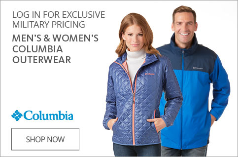 Log In For Exclusive Military Pricing Men's & Women's Columbia Outwear