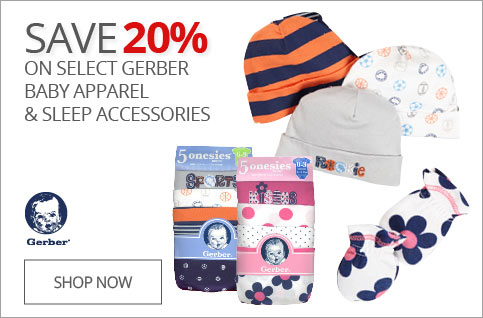 SAVE 20% on All Gerber Baby Apparel & Sleep Accessories