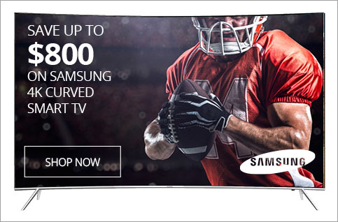 SAVE UP TO $1000 on Samsung 4K Curved Smart TV