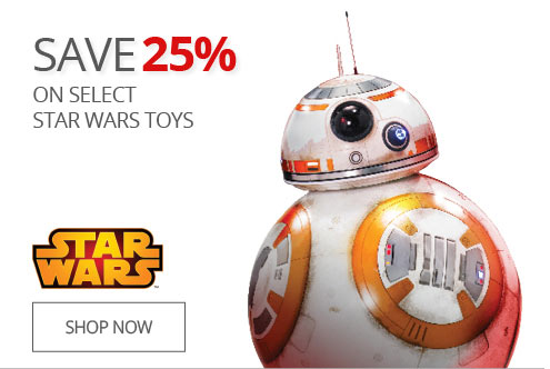 SAVE 25% On Select Star Wars Toys