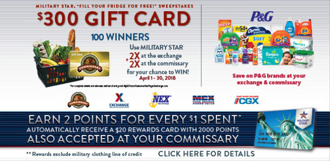 "Military Star ""Fill Your Fridge For Free!"" Sweepstakes"