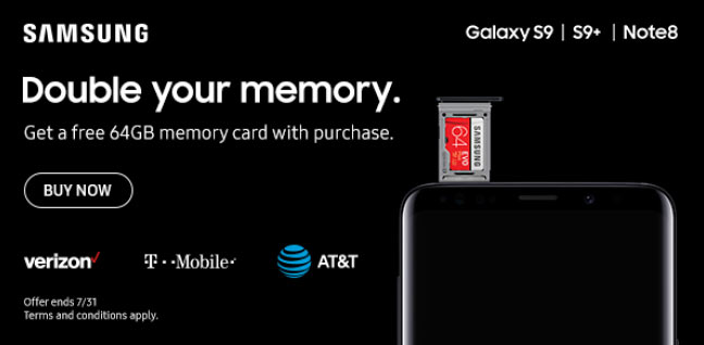 Samsung Double your memory.