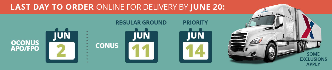 Last Day To Order Online For Delivery By June 20