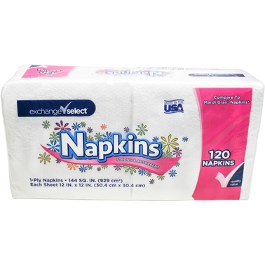 Exchange Select Paper Napkins 120 Ct.