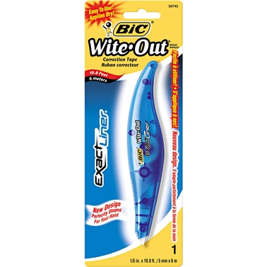 BIC Wite Out Exact Liner Correction Tape Pen