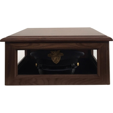 DomEx Hardwoods Hat/Cover Box, Solid Top, Walnut