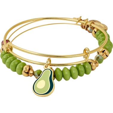 Alex and Ani You Guac My World Color Infusion 2 pc. Charm Bangle Bracelet Set