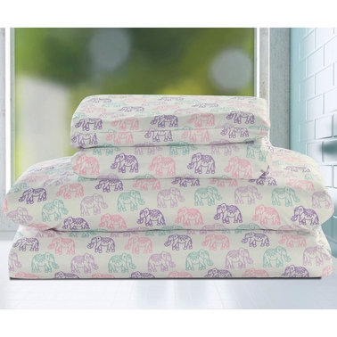Beatrice Elephants Sheet Set