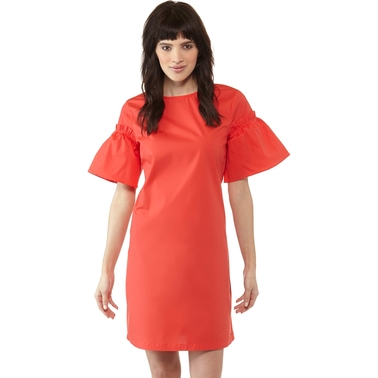 Armani Exchange Cinched Flare Sleeve Short Dress
