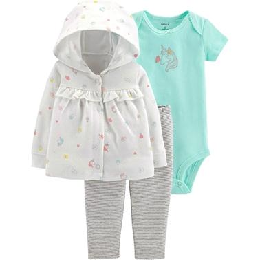9e5f6c820 Carter s Infant Girls 3 Pc. Floral Cardigan Set