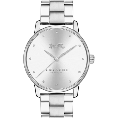 COACH Women's Grand Stainless Steel Brass Bracelet Watch with Crystal Markers