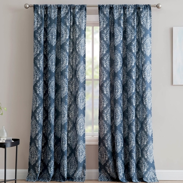 1888 Mills Alma Single Window Curtain Panel with Rod Pocket 50 x 84 in.