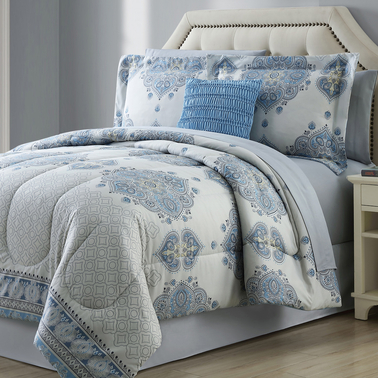 Simply Perfect Complete Bedding Set, Coral Mandala