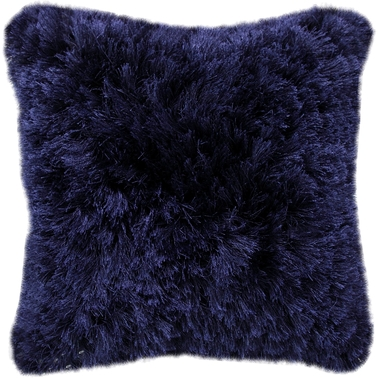 CHESAPEAKE DENIER SHAGGY NAVY PILLOW 58024 (18''X18'')