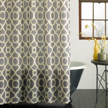 Geo Lattice Shower Curtain