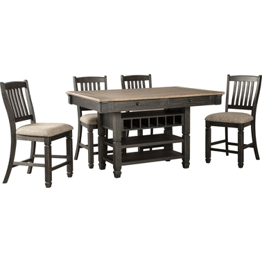 Signature Design by Ashley Tyler Creek 5 Pc. Counter Height Dining Table Set