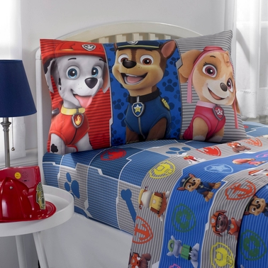 Nickelodeon Paw Patrol Gang's All Here Twin Sheet Set
