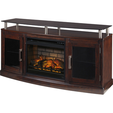 Ashley Chanceen TV Stand with Fireplace Insert