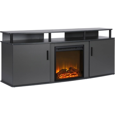 DHP Carson Electric Fireplace 70 in. TV Console