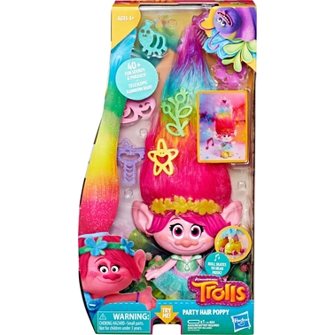 Hasbro DreamWorks Trolls Party Hair Poppy Doll