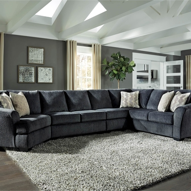 Signature Design By Ashley Eltmann 4 Pc Sectional Laf