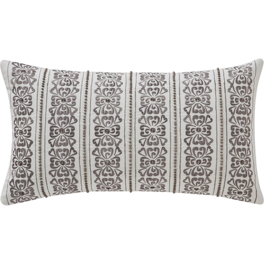 Waterford Celine Dove Grey 11 x 20 in. Breakfast Decorative Pillow