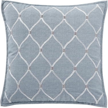 Waterford Florence Chambray Blue 18 x 18 in. Square Decorative Pillow
